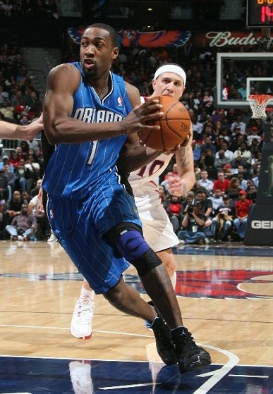 On Court: Arenas Makes Orlando Debut in Nubuck Air Jordan XII (12)