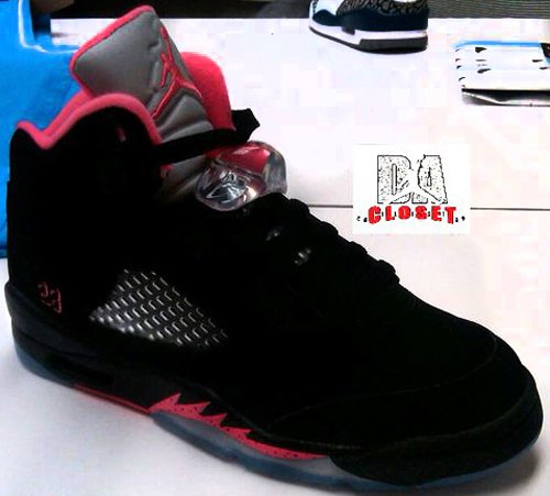 Air Jordan V (5) GS Black/Alarming Red