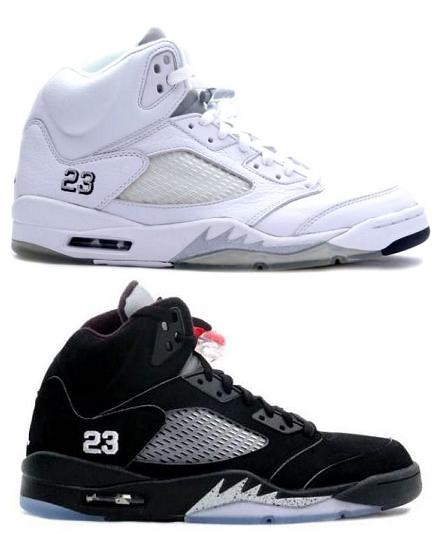 Air Jordan V (5) Black/Metallic Silver & White/Metallic Silver Summer 2011?