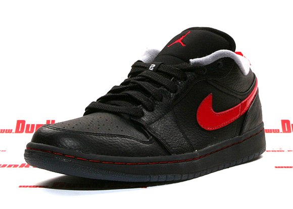 Air Jordan I (1) Low Phat Black/ Varsity Red - Stealth