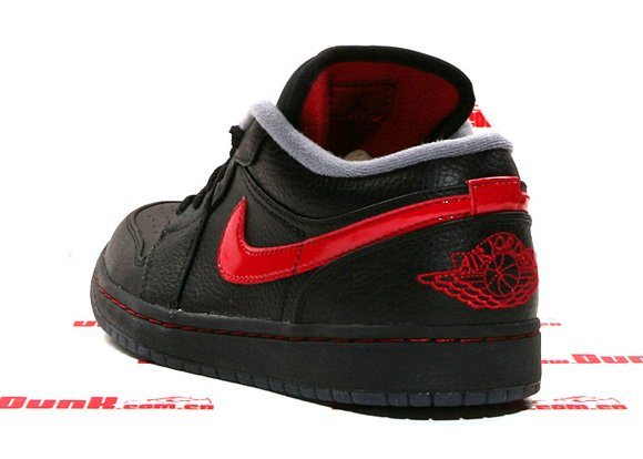 Air Jordan I (1) Low Phat Black/ Varsity Red - Stealth