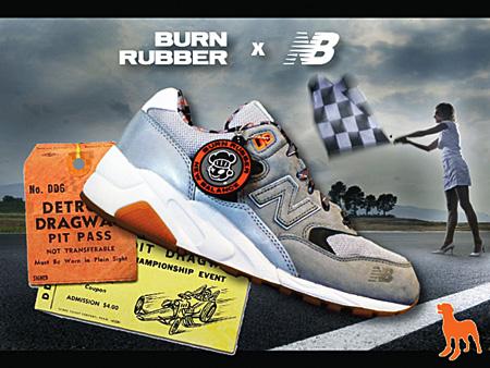 New Balance 580 Burn Rubber