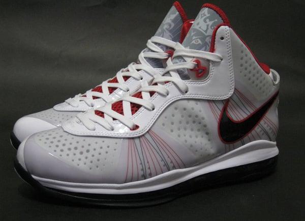 buy popular fde71 c696a Nike LeBron 8 V2 – White/Black-Varsity Red New Detailed Images ...