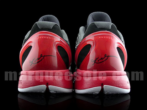 Nike Zoom Kobe VI (6) Black-Varsity Red-White - New Images-4
