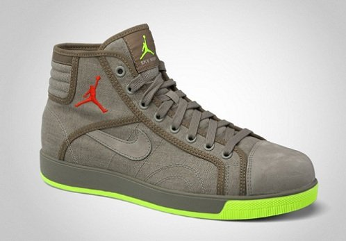 Jordan Sky High Canvas - Grit/Team Orange-Volt-Brown Kelp