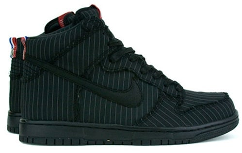 "Nike Dunk High Premium - Black ""FFF"" Pinstripes"