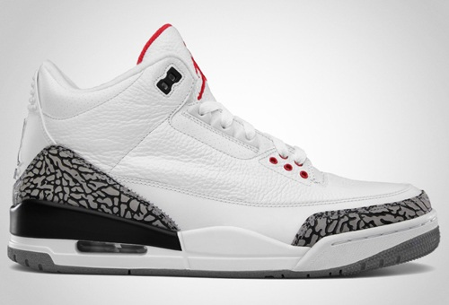 Release Reminder: Air Jordan III (3) Retro White/Fire Red-Cement Grey-Black