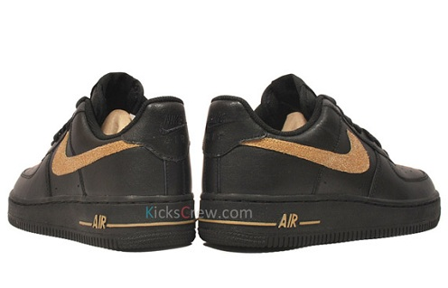 Women's Nike Air Force 1 Low - Black/Metallic Gold
