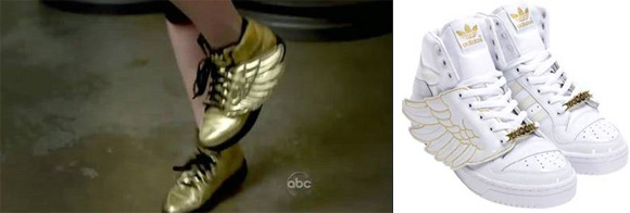 Anne Hathaway Pre-Oscar Look with Jeremy Scott x Adidas
