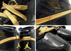 Air Jordan 1 Phat GS Black/ Gold