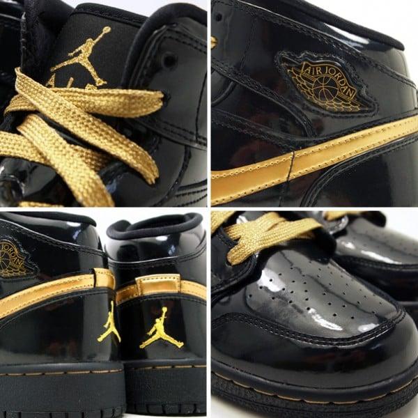 reputable site 08012 bd41e Air Jordan 1 Phat GS Black/ Gold | SneakerFiles