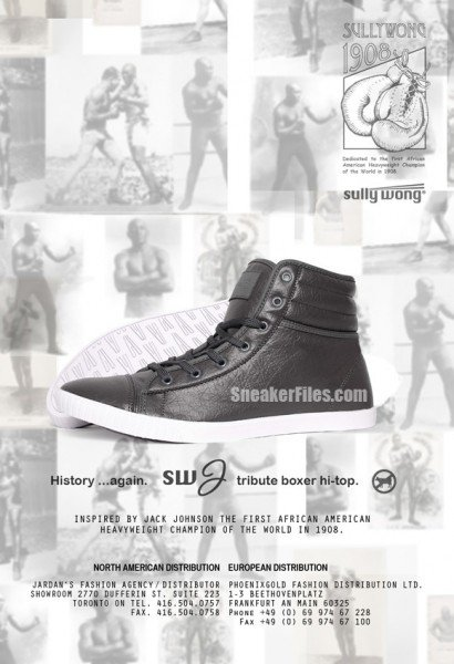 SULLYWONG SW-J Boxer Tribute Hi-Top Sneaker