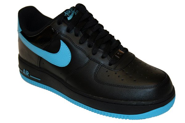 Nike Air Force 1 Low  07 Black  Chlorine Blue Now Available ... 54fa9f3f9a