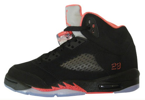 Air Jordan V (5) GS - Black/Alarming Red