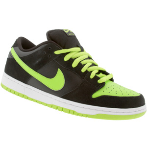 new arrival 2e339 7b519 The Nike Dunk Low Pro SB in Black Chartreuse, otherwise known as the Neon J- Pack, are now available at online retailer PYS. There is currently a full  size ...