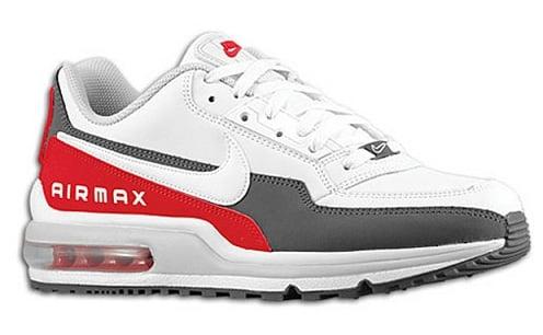 Nike Air Max LTD - White/Dark Grey-Varsity Red