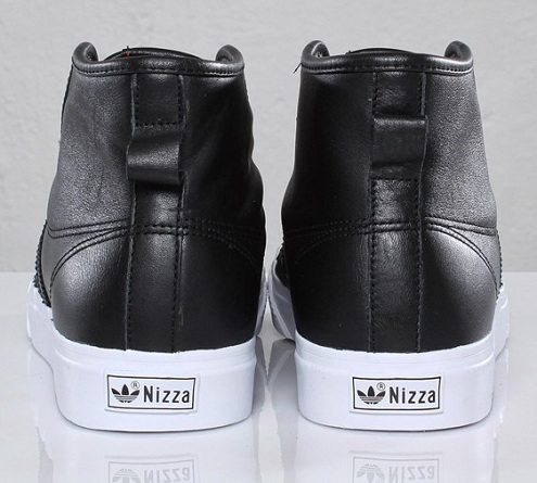 adidas Originals Nizza Hi - Black Leather
