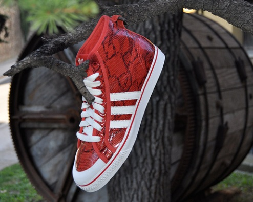 "adidas Originals Nizza Hi - ""Red Snakeskin"""