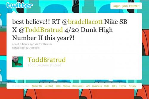 Todd-Bratrud-x-Nike-SB-Dunk-4/20/2011