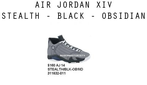 Air Jordan XIV - Stealth/Black-Obsidian