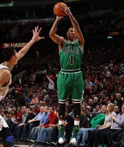 Derrick Rose Goes Green as Bulls Take Over East