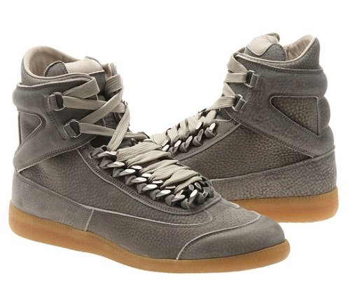 Maison Martin Margiela High-Tops - Suede Chain Sneakers