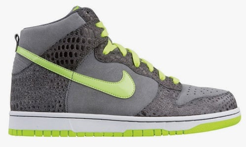 Nike Dunk High - Cool Grey/Hot Lime