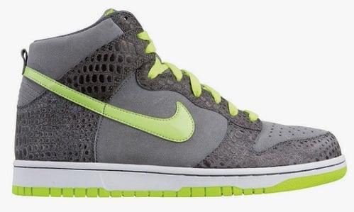 Nike Dunk High - Cool Grey/Hot Lime