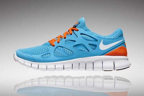 Nike Free Run+ 2 - Teal/Orange