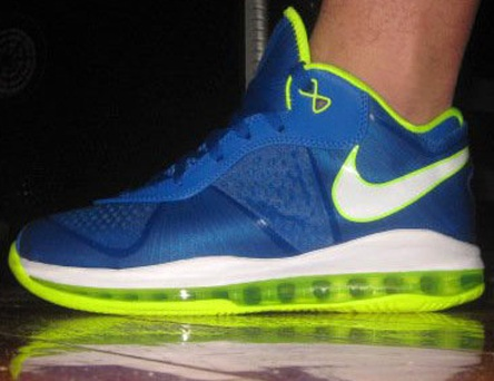 Nike Lebron 8 V2 Low - Blue/Neon/White