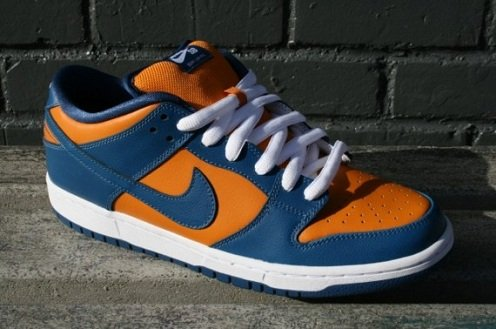 orange blue nike dunks