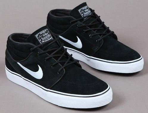 Nike Janoski De Fond Milieu Noir Et Blanc