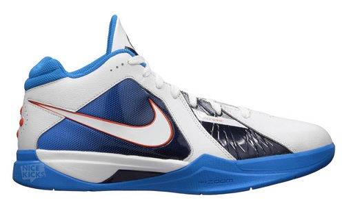 Nike Zoom KD III - White/White-Team Orange-Photo Blue