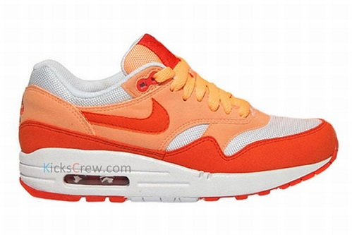 Women's Nike Air Max 1 - Peach Cream/Team Orange-White