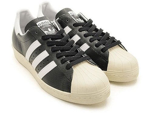atmos x adidas Originals Superstar 80s - Black Croc GID