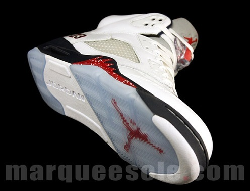 Air Jordan Retro V (5) - White/Midnight Navy-Varsity Red