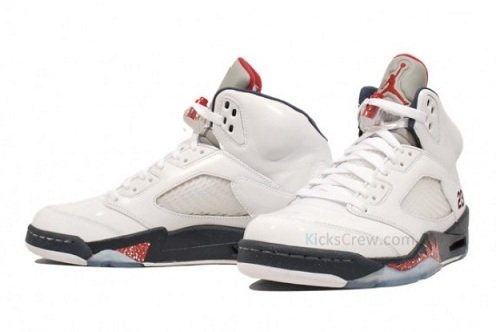 buy online 769ee 3646b Air Jordan Retro V (5) White Midnight Navy-Varsity Red - New