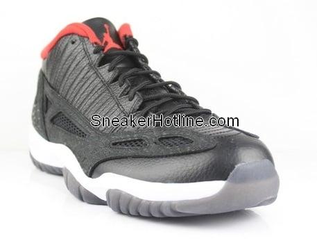 Air Jordan Retro XI (11) IE Low Black/Varsity Red-White - New Images