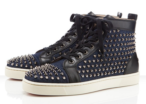 Christian Louboutin Louis Flat Spikes - Denim