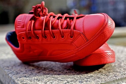 Converse Star Player 75 Low Deluxe (by Ronnie Fieg) - Red Leather