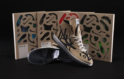 "Geoff McFetridge x Nike SB Dunk High ""Papers"" for MOCA"