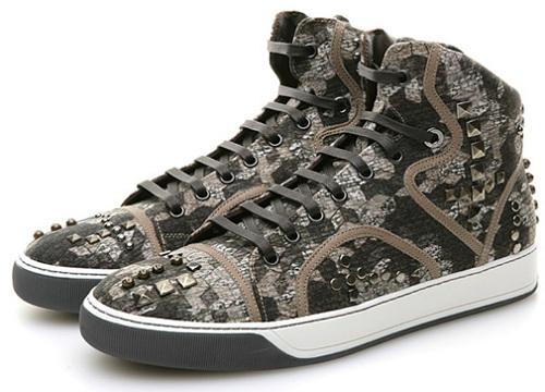 Lanvin High-Top Sneaker - Geometric Camo