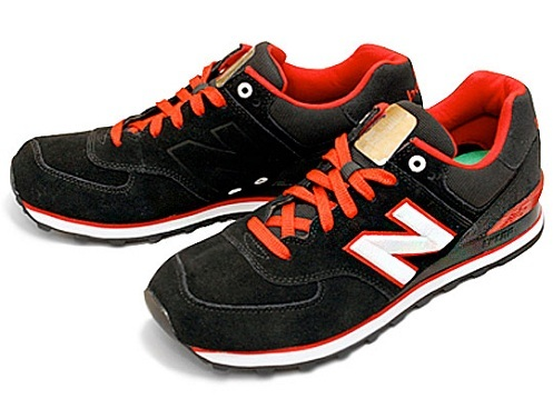 Judías verdes Surgir engranaje  New Balance ML574 - Black/Red/White | SneakerFiles