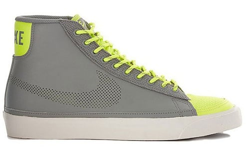 Nike Blazer Mid - Medium Grey/Volt/White