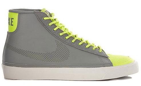 Nike Blazer Mid - Medium Grey/Volt/White