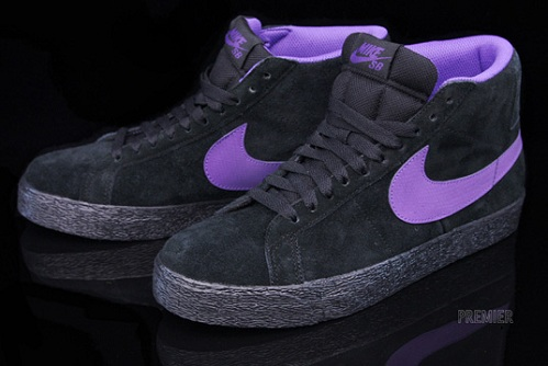 Nike SB Blazer High - Black/Varsity Purple