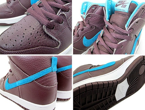 Nike SB Dunk High - Burgundy/Aquamarine