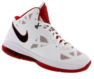 dd9403ba1754 Nike LeBron 8 PS White  Black- Sport Red Now Available