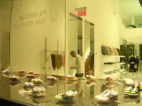 A Bathing Ape (Bape) New York Sneaker Store