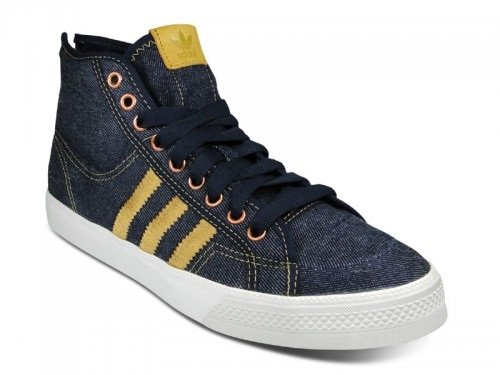 "adidas Originals Nizza High ""Zip"" - Denim & Metallic Silver"